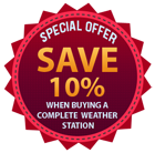 Save 12.5% on the cost of individual items when buying a Kestrel weather station package