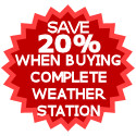 Save 20% on the cost of individual items when buying a Kestrel weather station package