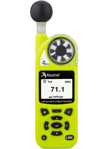 Kestrel 5400AG Cattle Heat Stress Tracker with LiNK + Vane Mount