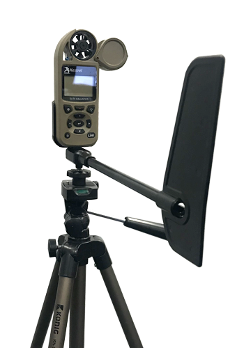 Kestrel 5700 weather station with tripod and vane mount