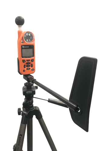 Kestrel 5000 weather station with tripod and vane mount