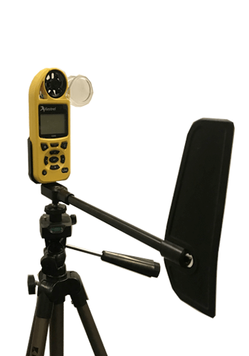 Kestrel 5500 weather station with tripod and vane mount