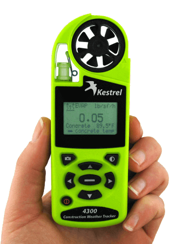 Kestrel 4300 Construction Weather Tracker