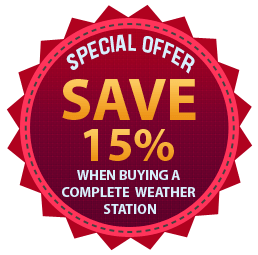 Save 15% on the cost of individual items when buying a Kestrel weather station package