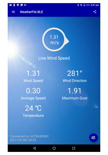 WeatherFile BLE Android App